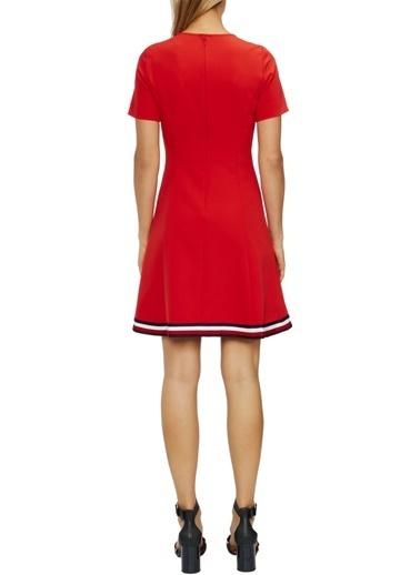 Tommy Hilfiger Kadın Angela Global Stp Dres Elbise WW0WW24224 Kırmızı